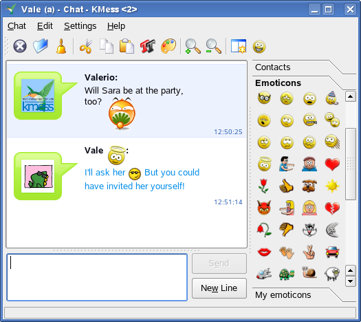 irc chat room list emoticons